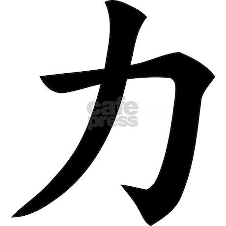 Kanji Strength Patches... Japanese Strength Symbol