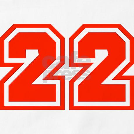 Varsity Uniform Number 22 (Red) BBQ Apron by bluegreenred