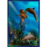 Mermaid Wrapped Canvas Art