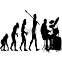 The evolution of man Wall Decals