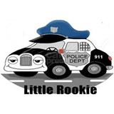Police car Wrapped Canvas Art