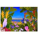 Tropical flowers Canvas Art