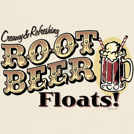 Root Beer Floats T-Shirt by RetroPlanetUSA
