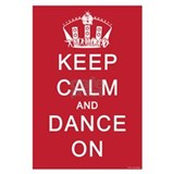 Keep calm and dance Wall Decals