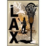 Boys lacrosse Wrapped Canvas Art