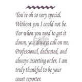 Court reporter Framed Prints