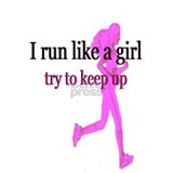 Runner girl Wall Decals