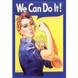 Rosie the riveter Wrapped Canvas Art