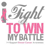 I Fight Win Breast Cancer Water Bottle