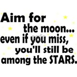 Aim for the moon Wall Decals