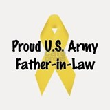 Proud Army Father-in-Law Shot Glass