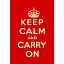 Keep calm and carry on Canvas Art