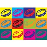 Rugby Wrapped Canvas Art