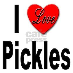 I Love Pickles Ash Grey T-Shirt