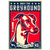Obey the greyhound Wall Decals