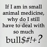 Small Animal Medicine Bull*** Drinking Glass