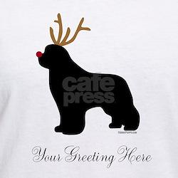 Reindeer Newf - Your Text Shirt