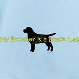 My brother is a black lab Baby Bodysuits