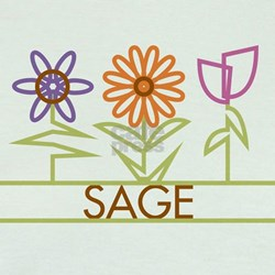 Sage with cute flowers T