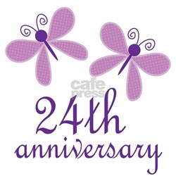 Wedding Anniversary Gifts 24th Year : 24 Year Anniversary Pajamas 24 Year Anniversary Pajama Set Pajama ...