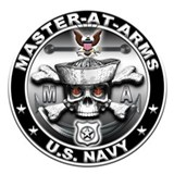 USN Master-At-Arms Skull MA Mug