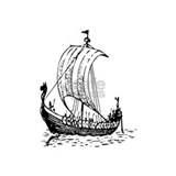 Viking ship Wrapped Canvas Art