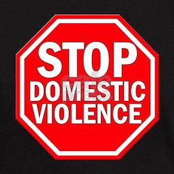STOP Domestic Violence Black T-Shirt