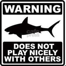 Shark Does Not Play Nicely Small Poster