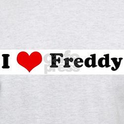 I Love Freddy Ash Grey T-Shirt