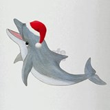Santa - Dolphin Drinking Glass