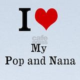 Nana and pop pop Baby Hats