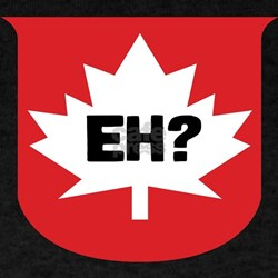 CANADA EH? Black T-Shirt