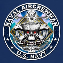 USN Naval Aircrewman Skull AW T-Shirt