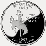 Wyoming Quarter Shot Glass