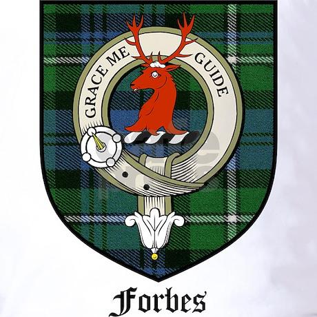 Forbes Clan Crest Tartan T Shirt By Coatofarmscrest