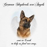 German shepherd  angel t shirt T-shirts
