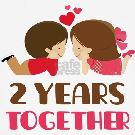 2 Years Together Anniversary Womens Tank Top By Anniversarytshirts2