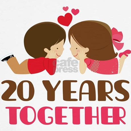 20 Years Together Anniversary T-Shirt by anniversarytshirts2