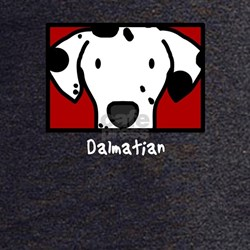 Anime Dalmatian Black T-Shirt