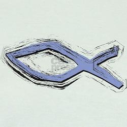Blue Fish - Ichthys - Christ T