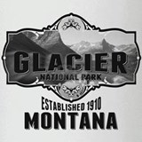Glacier Ansel Adams Drinking Glass