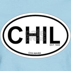 Chilmark MA - Oval Design. T-Shirt