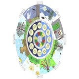 Wheel of the year Wrapped Canvas Art