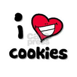 I Love Cookies Women's Pink T-Shirt