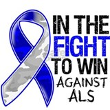 In The Fight Against ALS Water Bottle