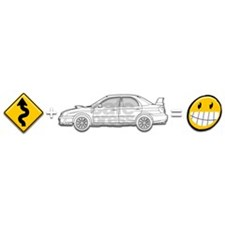 Curves, Subaru, equals fun  t shirt