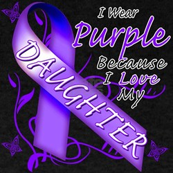 I Wear Purple I Love My Daugh T-Shirt