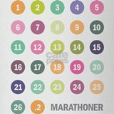 Marathon Numbers Pastel Drinking Glass