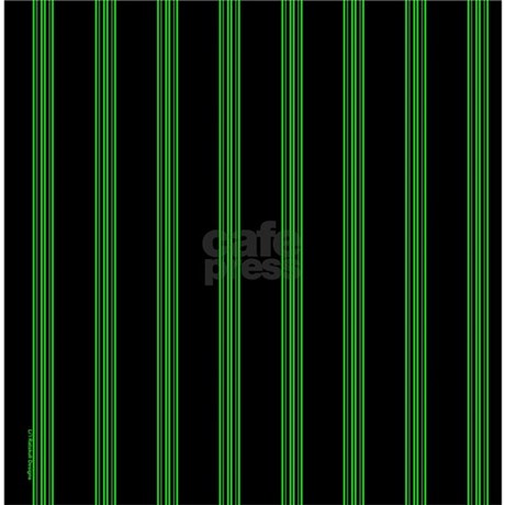 green and black pinstripe shower