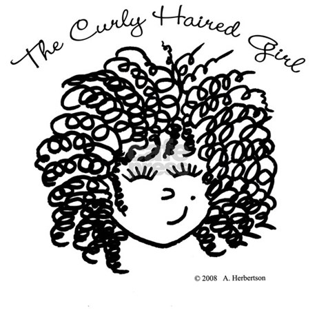 how to draw a cartoon girl with curly hair